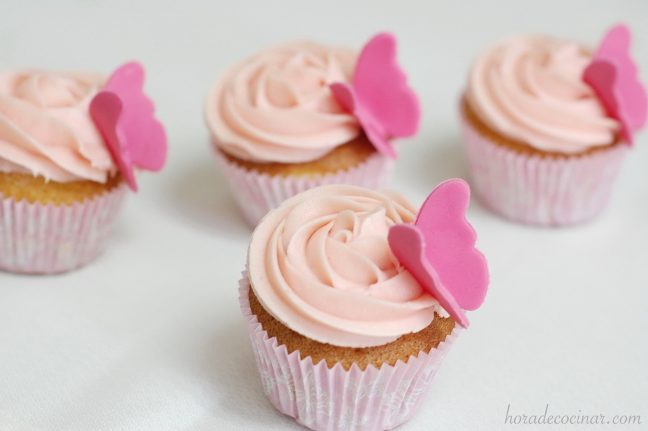 Cupcakes fáciles sabor fresa