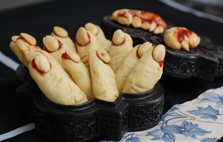 Dedos de bruja de Halloween