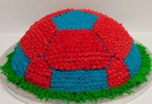 Tarta pelota de fútbol