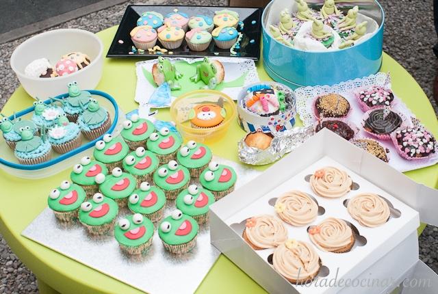 Cupcakes de las mamas artistas de la guarde