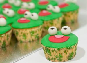 Cupcakes disfrazados de rana