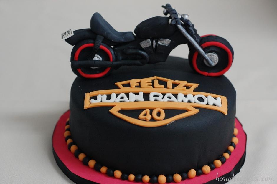 Tarta fondant Moto Harley