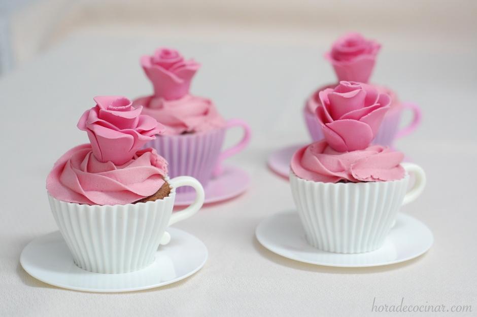 Cupcakes en tacita