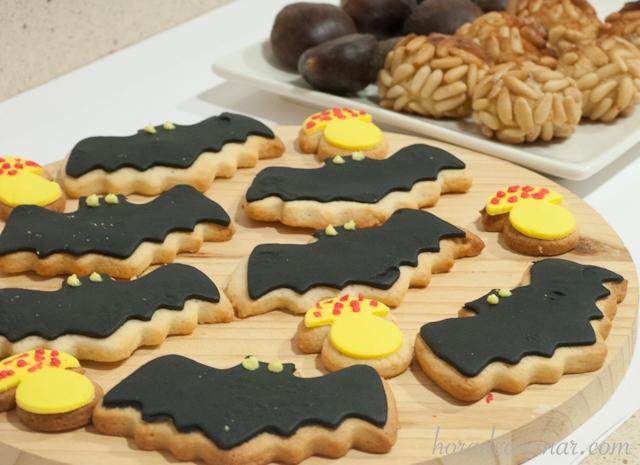 Galletas de mantequilla de Halloween (murciélago)
