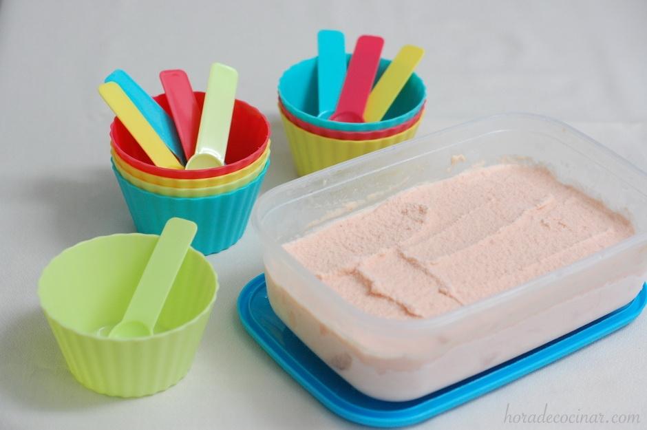 Helado de sandia (En heladora)