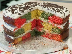 Layercake con cuadrados de colores