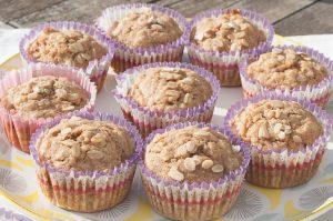 Muffins de avena y platano