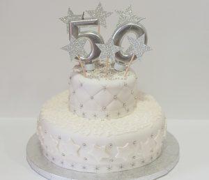 Tarta fondant 50 años