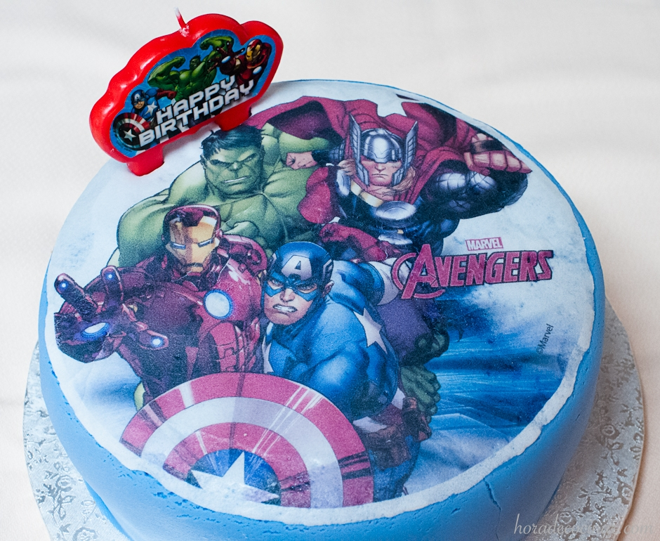 Tarta fondant de Avengers (Vengadores)