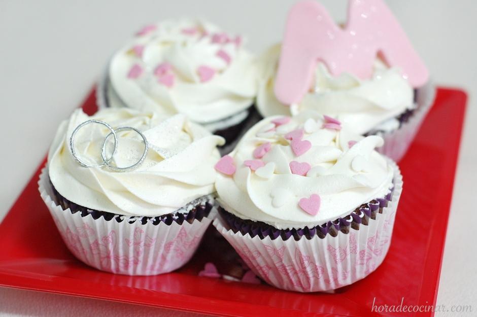 Cupcakes Día de los Enamorados