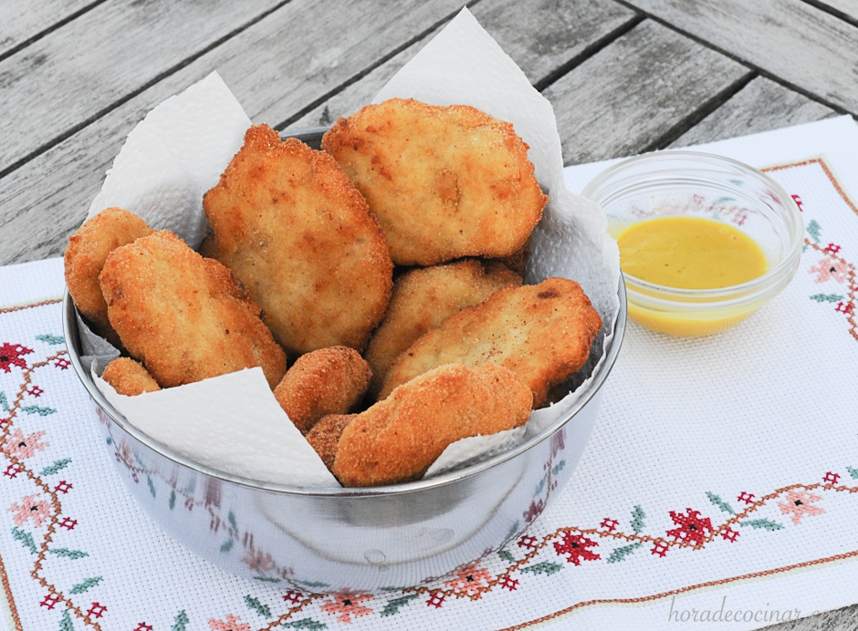 Nuggets de pollo caseros