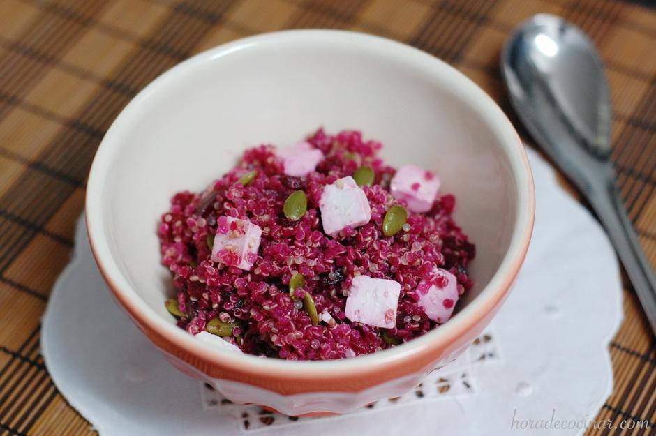 Quinoa con remolacha