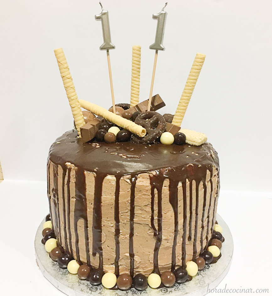 Tarta de goteo (drip cake o dripping cake)